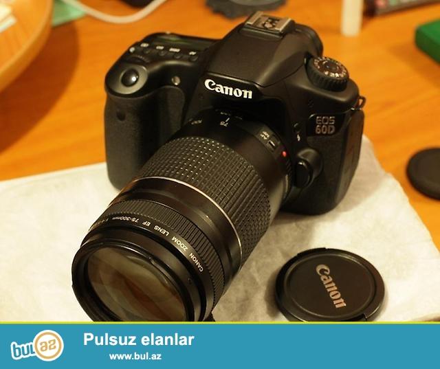 Canon 60D + 75-300mm...Probegi 12-13min arasi.Ela veziyyetde,menyusu ingilis dilindedi...