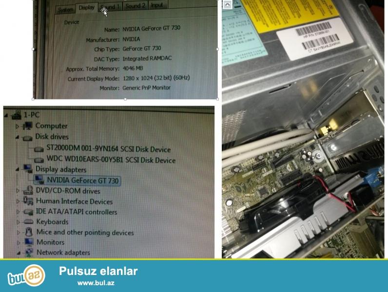 HP Elite 7500 MT seriyasi;<br /> CPU: core i5-2400; 3...