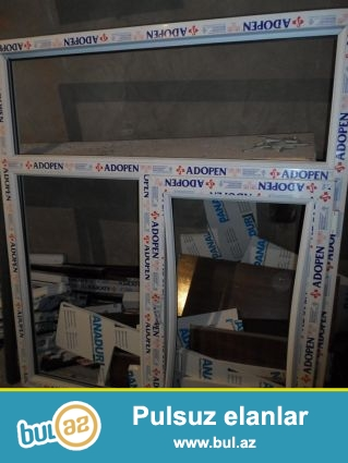 plastik qapi pencere sexi teklif edir Plastik qapi-1 ed-100-130man (ag),170-220man(rengli),plastik pencere,şkaf, arakəsmə-1 kv...