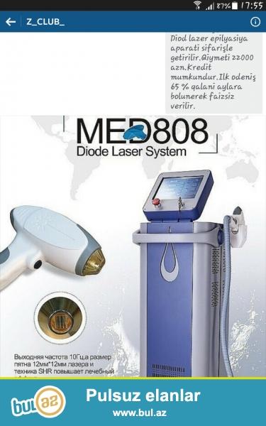 2015 model Alman texnologiyasi esasinda hazirlanmiş Med-808 Diod lazer epilyasiya aparati sifarişle getirilir...