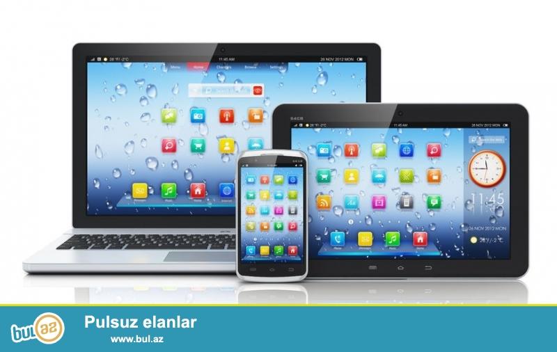 Telefon, notebook, planset aliram. Negd qiymete. <br /> Tel: (055)214-25-15 whatsapp var.