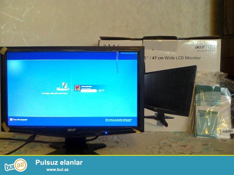 ACER monitor satiram LCD 19 ekran. 70 manat. Demek olar hec iwlenmeyib...