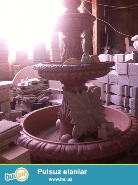 Temiz El isi ile yuksek keyfiyyetli mermerden hazirlanmis fantan , 750 kq artiq cekisidi ...