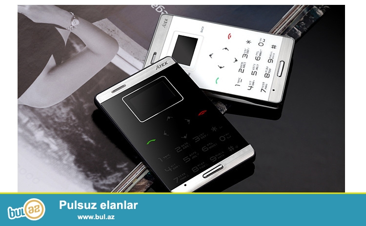 Yeni 2 NÖMRƏLİ DÜNYANIN EN NAZİK BALACA SENSOR KLAVİATURALI TELEFONU<br /> ÇATDIRILMA PULSUZ<br /> <br />     Dizayn:Bar<br />     Cellular:GSM<br />    Nömrə sayı:2<br />     ROM: