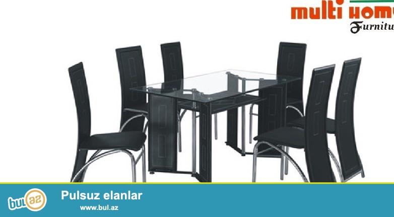 Metbex üçün şüşe masaların topdan ve parakende satışı modelleri ve rengleri müxtelifdir