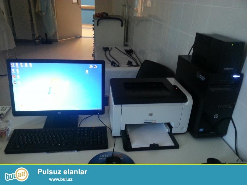 Salam  tam  yeni  HP  kompyuter  ve  printer  satilir  Prosesor    intel R core  TM  I3-3220 CPU 3...
