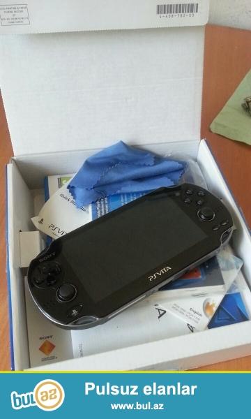 PS Vita  3-4 aydi hediyye olunub  isdifade edilmediyine gore satiram ...