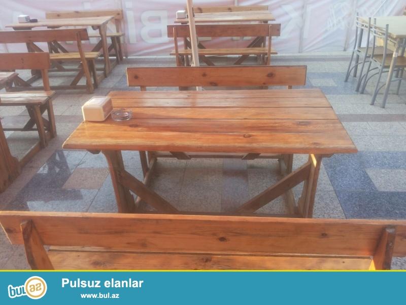 kafe üçüb stol və stul<br /> 10 ədəd
