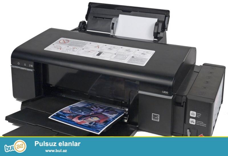 Tecili Epson L 800 Modeli satilir<br /> <br /> Super efektli sekil capi ve Disklerin uzerine sekil kopia etmekde elveriwli printer...