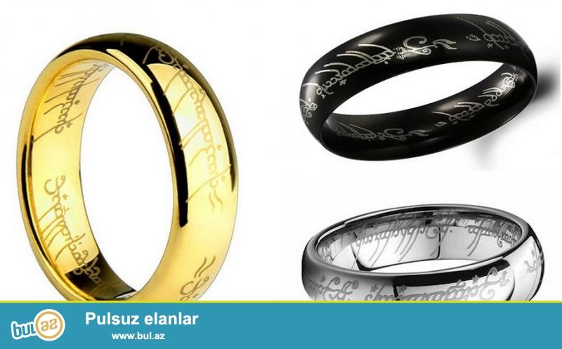 Lord of Rings yazılı polad üzüklər<br /> Metal rəngi: Qızılı, Gümüşü, Qara<br /> Ölçü: 17-18-19-20<br /> Ağırlıq: 6 qr