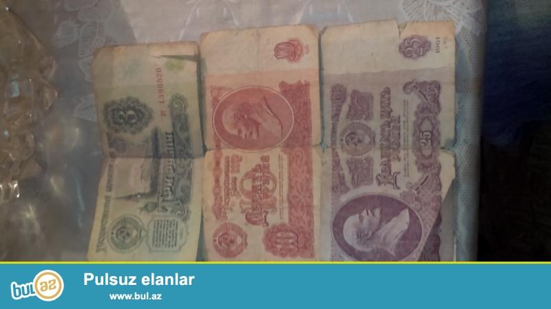 Rubl 1961 ci ilin rus rubullari (4eded 3 rubl). (2eded 10 rubl)...