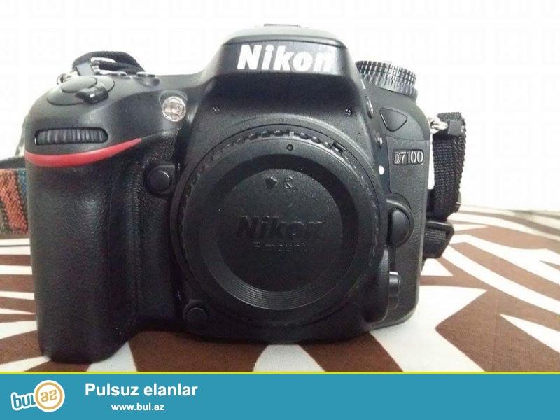 Nikon D7100+18-105mm (6-8min pr)+Grip+4gb kart+2il qizil qarantiya+karopka senedler<br /> aparat tezeden secilmir seliqeli isledilib ela veziyyetdedi<br /> endirim olacaq real aliciya