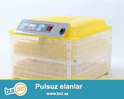 Inkubator satisi Bakida :180-AZN den<br /> Avtomatlaşdırılmış inkubatorlar yumurtaların çevrilməsinin ve temperaturunu tənzimlənməsi idarəetmə sistemi tərəfindən avtomatik aparılır...