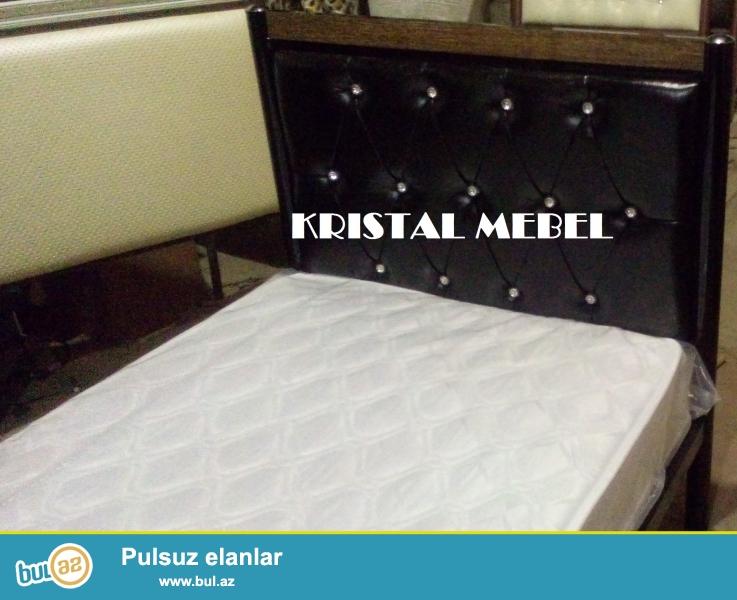 Kristal Mebel eni 90sm uzunluğu 2m olan tək nəfərlik yataqlar təqdim edir...