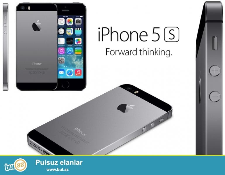 tam yeni orginal iphone 5s 16gb,ishlenmeyib.qeydiyyatdan bele kecmeyib yani xaricden gelib Azerbaycanda istifade edilmeyib,alan shexsin adina qeydiyyat olunacag...