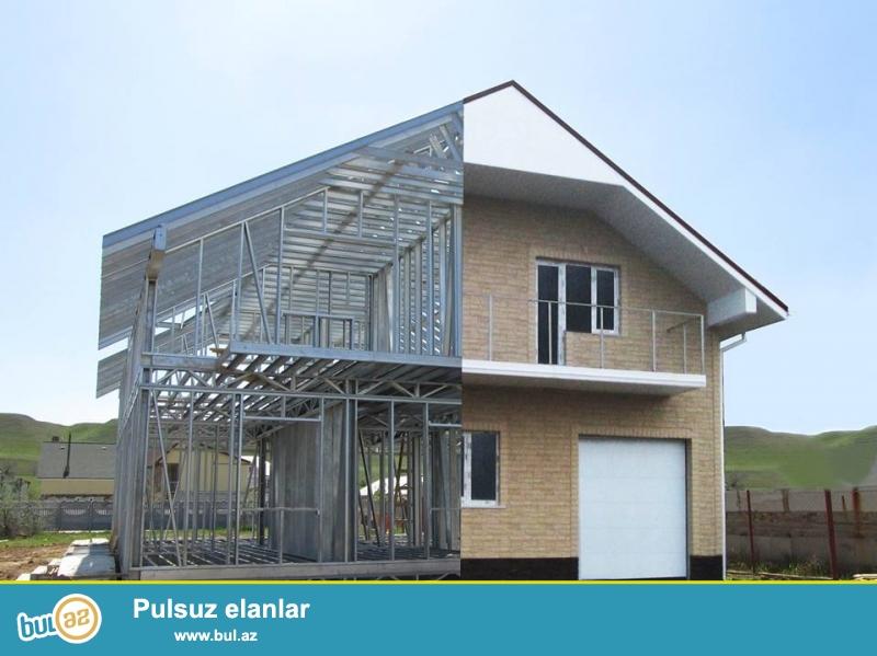 Prefabrik evler istehsalci terefinden istehsal edilir ve satilir...