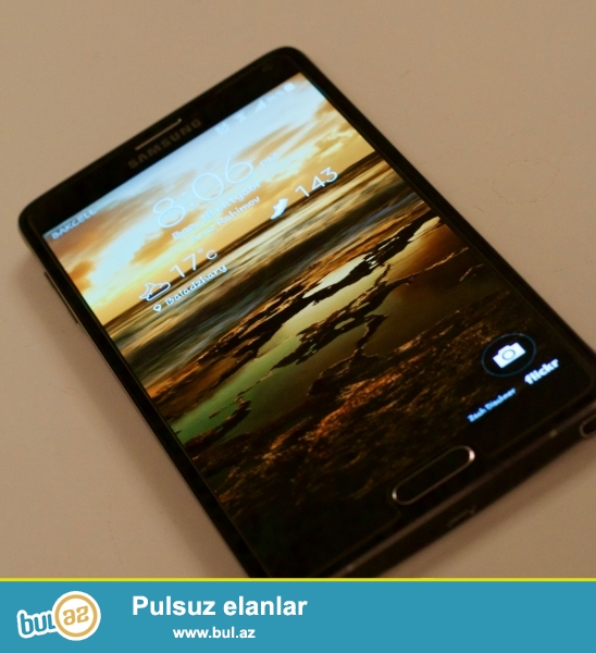 Samsung Galaxy Note 4 black .Telefon əla vəziyyətdədir...
