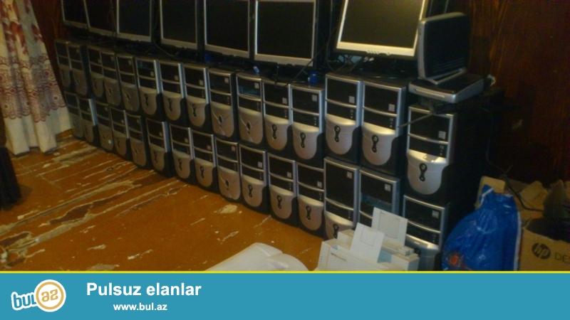 30 eded prosessor, 30 ədəd manitor, 15 ədəd UPS, 10 ədəd Printer, 30 mouse 30 klaviatura-təcili satılır     komputerlərin parametrləri 15lik ekran , 2...