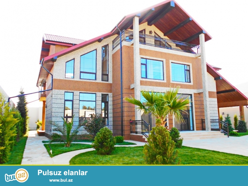 **РУФАТ*АЙНУР**   ЭКСКЛЮЗИВ!   Впервые  на рынке!   Продается   загородный   дом   в   стиле модерн   на   трассе   Баку-Загульба,   место отличное,   дом   3-х   этажный,   400   кв...