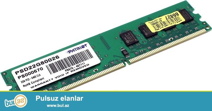 Ram 2GB Patriot DDR2 Plataya geden ramdir whatsap 055 893 37 58