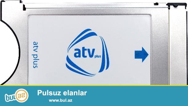 """salam aleykum , Atv plus Cİ modul+Atv plus Kart(Atv plusun Televizorun arxasına keçirilən cihazı +Kartı)  <br /> AzTV<br /> Mədəniyyət TV<br /> İdman Azərbaycan TV<br /> İctimai TV<br /> ANS TV<br /> Lider TV<br /> Space TV<br /> Azad Azərbaycan TV<br /> TRT 1<br /> Region TV<br /> Xəzər<br /> CBC Sport HD<br /> """"Standart+"""" Paketi - 10 AZN<br /> 100 kanal<br /> Kino<br /> НТВ+ Кинохит<br /> Индия ТВ<br /> НТВ+ Киноклуб<br /> НТВ+ Кино плюс<br /> НТВ+ Киносоюз<br /> НТВ+ Новое кино<br /> YEŞİL Sinema<br /> TV 1000 East (ru)<br /> TV 1000 Русское Кино<br /> TV 1000 Action (ru)<br /> Иллюзион+<br /> Fox (ru)<br /> НТВ+ Премьера<br /> НТВ+ Наше Кино<br /> Дом кино<br /> Amedia 2 (ru)<br /> Еврокино<br /> TV 1000 East (en)<br /> TV 1000 Action (en)<br /> Nat Geo WILD (en)<br /> Tanıdıcı<br /> Домашние Животные<br /> ID (ru)<br /> Nat Geo WILD (ru)<br /> Discovery Channel (ru)<br /> Discovery Science (ru)<br /> Animal Planet (ru)<br /> Viasat Nature (ru)<br /> National Geographic (ru)<br /> DTX (ru)<br /> National Geographic (en)<br /> ID (en)<br /> Viasat Nature (en)<br /> Discovery Channel (en)<br /> Viasat History (ru)<br /> Viasat History (en)<br /> Əyləncə<br /> ТНТ-Comedy (ru)<br /> Перец ТВ<br /> Авто плюс<br /> Телекафе<br /> Star TV (tr)<br /> Show TV (tr)<br /> Fashion TV<br /> Кухня ТВ<br /> Fox (tr)<br /> Пятница<br /> ТНТ<br /> Ю ТВ<br /> 2х2<br /> Musiqi<br /> Ru TV (ru)<br /> TMB (tr)<br /> Шансон ТВ<br /> PowerTürk TV<br /> Mezzo (fr)<br /> Europa Plus (ru)<br /> Kral Pop (tr)<br /> МУЗ-ТВ<br /> Музыка Первого<br /> MTV Dance (en)<br /> Xəbərlər<br /> BBC World News (en)<br /> Россия 24<br /> Euronews (ru)<br /> Мир 24<br /> РБК<br /> CNN International (en)<br /> France 24 (fr)<br /> Euronews (en)<br /> Euronews (tr)<br /> İdman<br /> НТВ+ Футбол 2<br /> Спорт 1<br /> NTV Spor (tr)<br /> Eurosport (ru)<br /> НТВ+ Спорт Плюс<br /> Россия 2<br /> НТВ+ Футбол<br /> Боец<br /> TRT Spor<br /> НТВ+ Наш футбол<br /> Бойцовский Клуб<br /> НТВ+ Футбол 3<br /> НТВ+ """