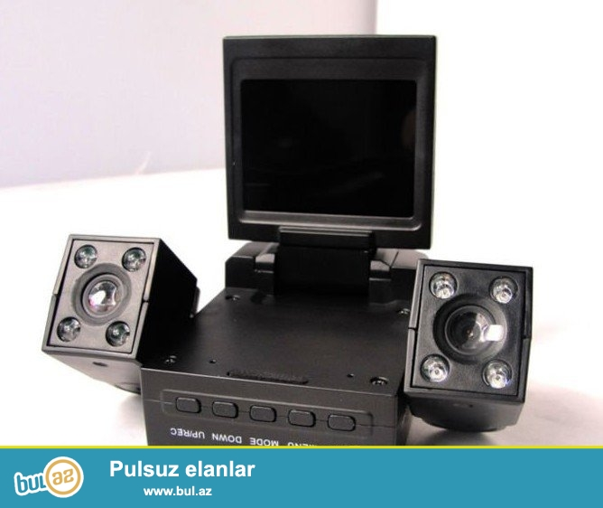 Avtomobil üçün 2 kameralı video registrator satılır...