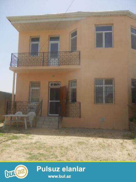 Bineqedide Gulustan 15-de 3 sotda 2 mertebeli 4 otaq h/t, metbexi olan ev satilir...