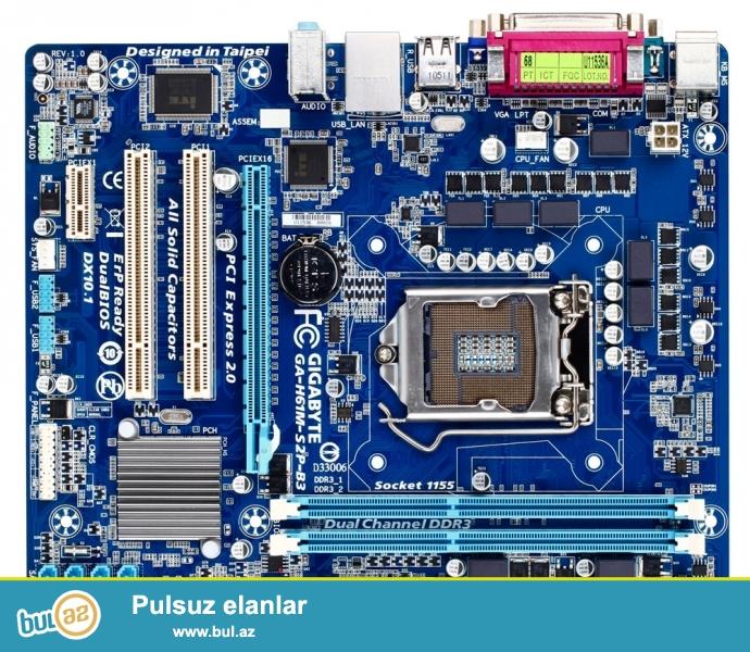 Мат/плата GIGABYTE GA-H61M-S2P-B3<br /> <br /> сокет 1155 <br /> Чипсет H61 <br /> Поддержка памяти DDR3 1333/1066/800 МГц Двухканальная архитектура памяти...