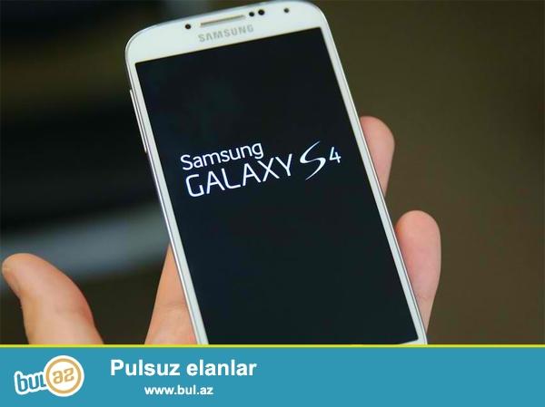 Samsung Galaxy S4<br /> Ela veziyetde -problemsiz<br /> Son qiymet 200azn<br />