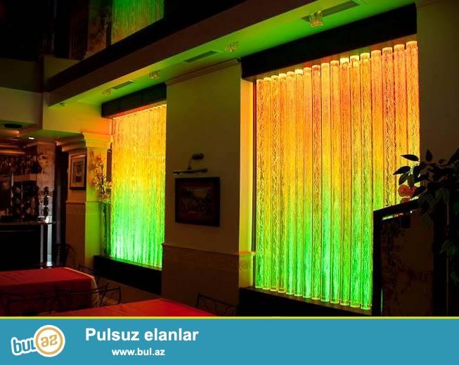 Muasir dizayn mehsulu olan isiqli hava panelleri, sizin ofisinize ve evinize, restoran ve otellerde xususi gozellik getirecek, saralmiyan, mohkem akrilden hazirlanmis paneller, ve sutunlar, istenilen olcu ve formada sifaris ede bilersiz.