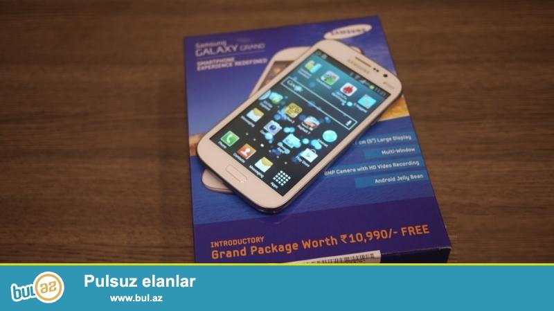 Samsung Grand duos satıram. Karopkası içində qulaqcıq (nauşnik) ,usb,adapter kabrosu var...
