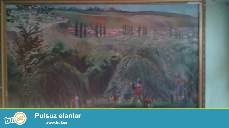 1968 ci ilin yaqli boya ile cekilmis resmleri 4 eded biri