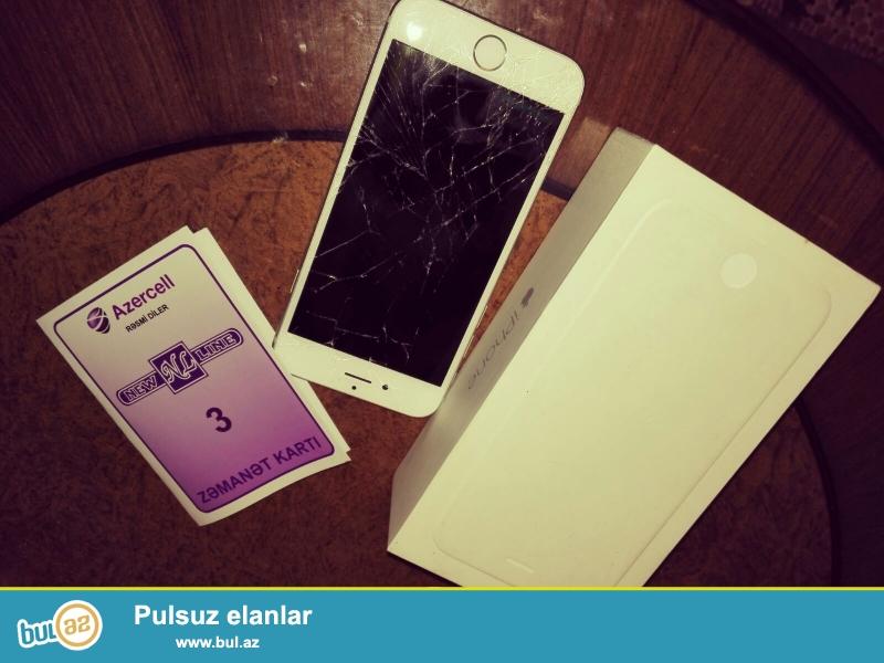 iphone 6 64 gb təcili satılır. ekranında çat var...