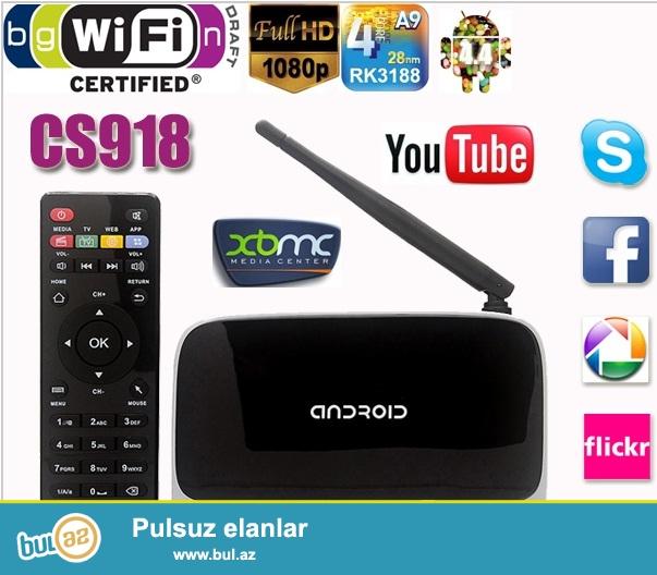 ECDREAM Android WiFi TV boks<br /> Internetlə televizor kanallarına baxmaq üçün istifadə edilir...