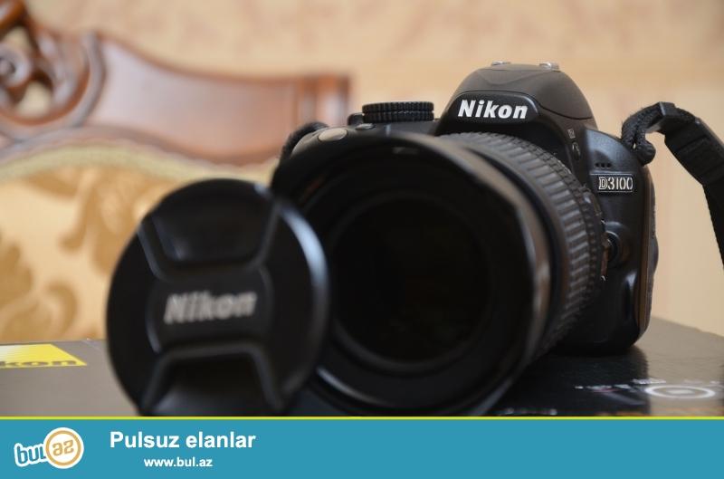 SATILIR: Nikon D3100 18-105mm f/3.5-5.6G<br /> Nikon SB-910<br /> Soft box<br /> Trigger<br /> Çanta<br /> (Qiymət hamsı ilə birlikdə yazılıb)<br /> <br /> Restaran aparatı deyil,ev şəraitində səliqəli istifadə olunub...