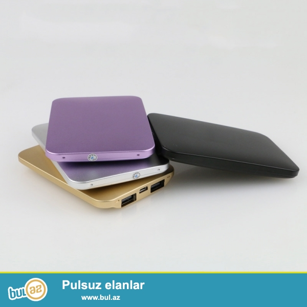Yeni.Çatdırılma pulsuz<br /> Ultranazik 12000mah Polymer batareya iki çıxış Bütün növ telefon kamera planşet PSP və...