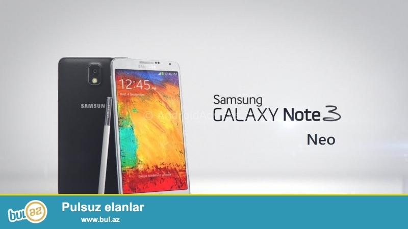 Note 3 Neo satilir tecili. Qara rengdi. Karobkasi, orginal, adaptoru...