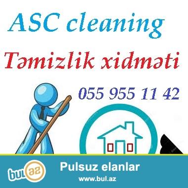 Temizlik xidmeti 055 955 11 42<br /> ACS temizlik sirketi Size her nov temizlik xidmetlerinin heyata kecirilmesini oz ohdesine goturur...