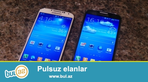 Samsung Galaxy S4 ag qara ve lafleur butun rengler var mende...