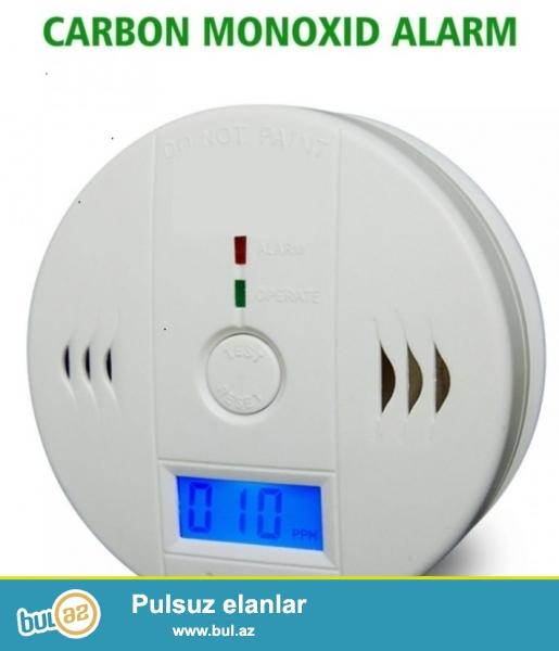 Evlerde ve obyektlerde qaz sizmasini  siqnal sesi  ile size xeber veren sensorlu qaz detektoru