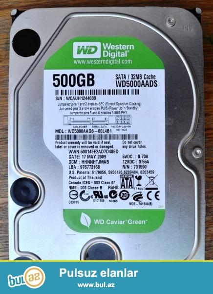 HDD topdansatış qiymətlərlə<br /> Western Digital HDD 500gb/3,5''    –    $44,00<br /> Western Digital HDD 1tb/3,5''   –        $60,00<br /> Western Digital HDD 2tb/3,5''  –     $90,00<br /> Western Digital HDD 3tb/3,5'' (sifarişlə gətirilir)   –    $135,00<br /> Western Digital HDD 4tb/3,5'' (sifarişlə gətirilir)   –    $180,00<br /> TOSHIBA HDD for Notebook 500gb/2,5''    –    $50,00<br /> TOSHIBA HDD for Notebook 1tb/2,5''   –    $70,00<br /> Transcend External HDD 320gb/2,5''/USB 2...
