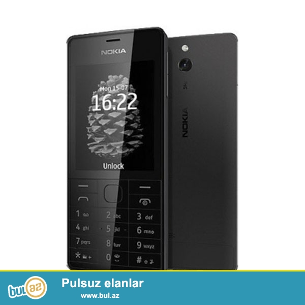 Nokia 515 (dual sim) qara rengli telefon.iwlenmiw telefondu,ela veziyyetdedi