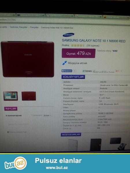 Samsung Galaxy Note 10.1 N8000 32Gb 200azn tecili satilir hec bir problemi yoxdur karobkasida var !!!!055 909 08 63 nomre de gedir