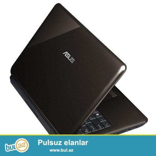 Asus-K40<br /> Pro:Intel<br /> Ram:4GB<br /> Vga:1GB<br /> Hdd:80GB<br /> Screen:14<br /> Zaratka saxlayir...