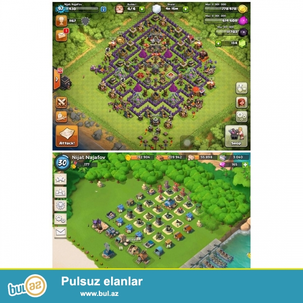 Salam Dostlar ME Clash Of Clans 96 lvl Ve Boom Beach 30 lvl Ve s...