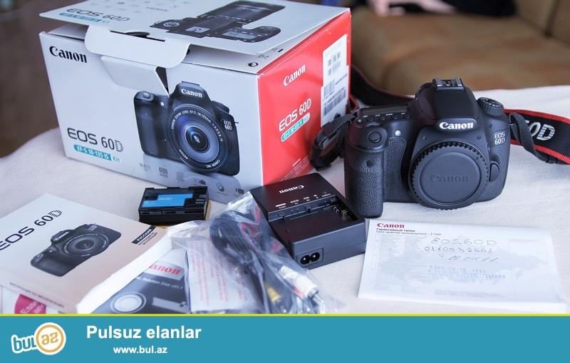 Canon 60D 18-55 IS obyektiv. Probeq 700. Shekildeki fotoaparatdi...