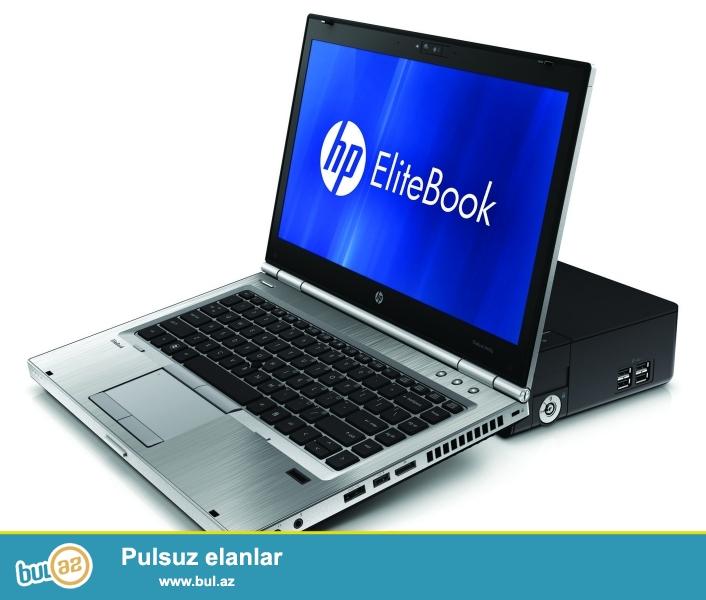 HP-Elitebook8460<br /> Pro:i5<br /> Ram:4GB <br /> Vga:1GB<br /> Hdd:500GB <br /> OS:win7 <br /> Screen:14<br /> Xususi guclendirilmiw akumlator...