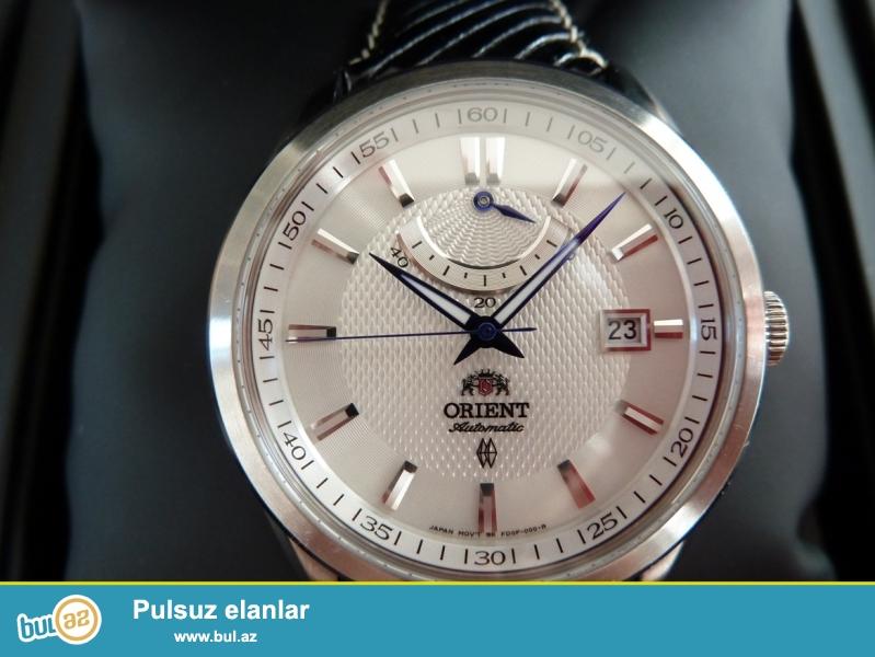 Orient avtomatik Orginal:Paslanmayan polatdan korpus,safhir şüşe,tebii deri kemer,ay ve ehtiyat enerji gösterici,5 atm su keçirmemezliye sahibdi,fosforlu eqreblerle...
