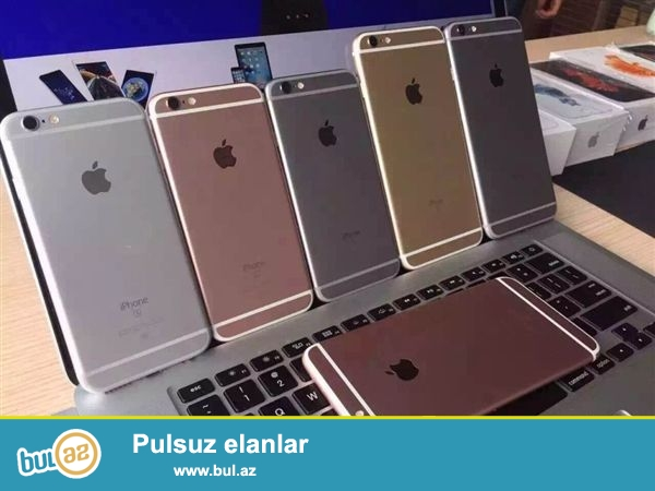 """Iphone""larin Dubay versiyalari satilir, telefonlar 1:1 kopyadir, originaldan ferqlenmir, problemsizdi ve qutuda yenidir(her bir aksesuari var)..."