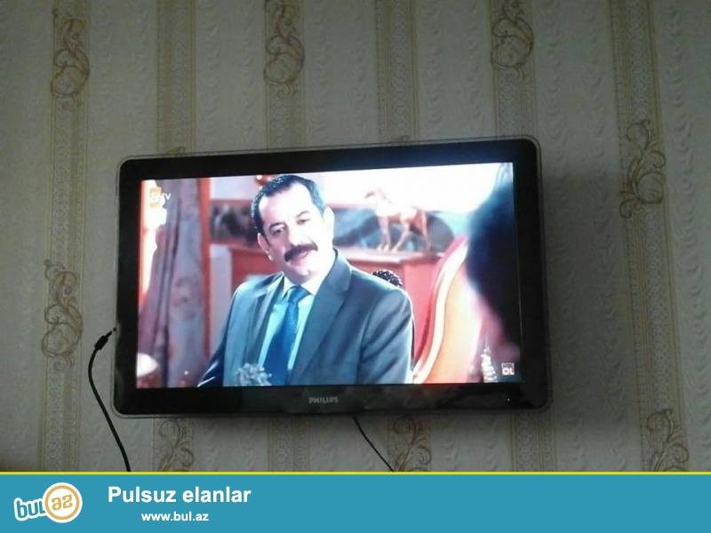 TECILI SATILIR Baki seherinde<br /> LSD Televizor PHILIPS Qiymeti 330 azn Divara berkidmeye demirleride var TV saz ve ela veziyyetdedir...